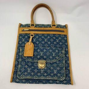 Authentic Louis Vuitton denim flat bag